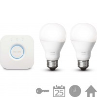 HUE STARTER KIT 2 SET E27 White A60 + BRIDGE
