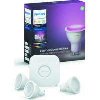 Hue Bluetooth 3x LED žárovky GU10 5,7W 250lm 2200-6500K + bridge + switch