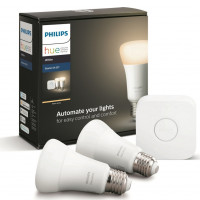 Hue Bluetooth 2x žárovka LED E27 9W 806lm 2700K + bridge